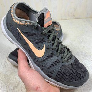 Nike Flex Supreme Running Shoes grey and peach